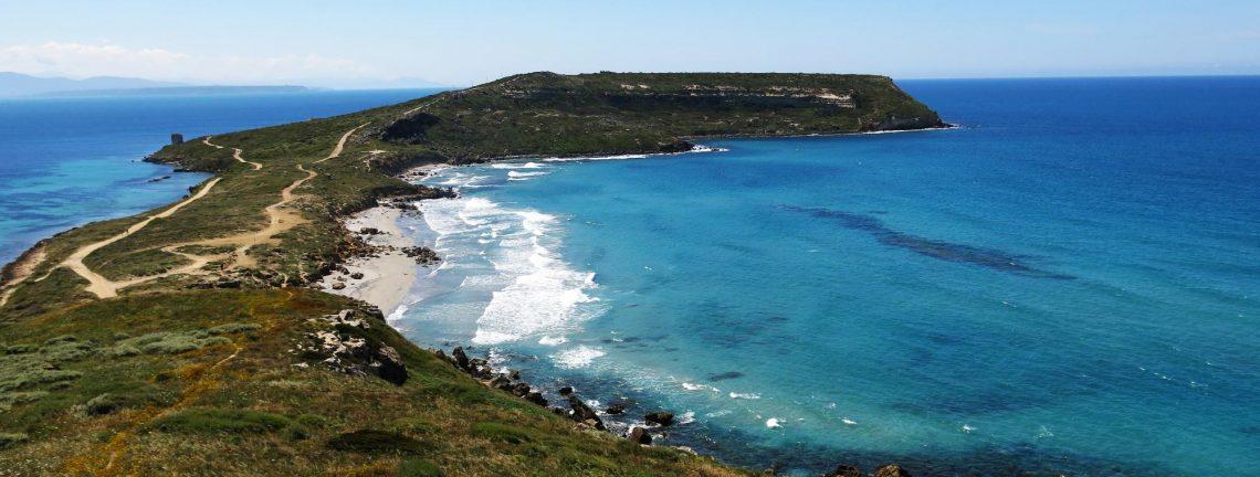 Vue sur la mer et la côte italienne