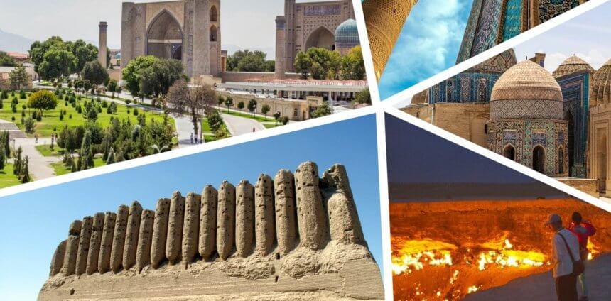 Endroits touristiques en Ouzbékistan