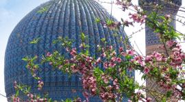 Coupole bleue / Mosquée / Patrimoine culturel en Ouzbékistan