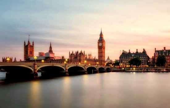 Vue panoramique sur Londres en Angleterre