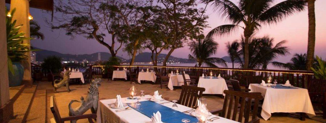 Hôtel Novotel, restaurant, 4*, Phuket, Thailande, Coucher du soleil