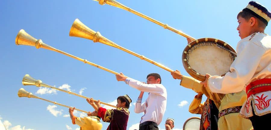 Musique spectacle traditionnel en Ouzbékistan