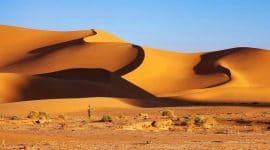 Le désert du Sahara en Algérie