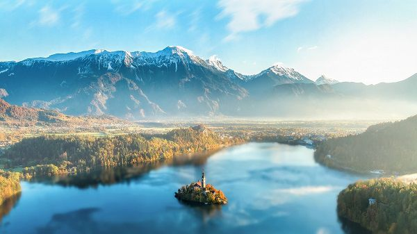 Vue sur Bled en Slovénie