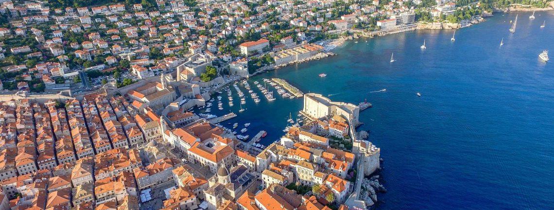 La côte dalmate à Dubrovnik, Croatie