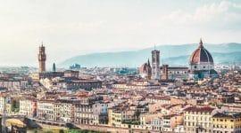 Vue panoramique sur la Florence en Toscane Italie