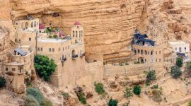 Vue sur monastere en Israel