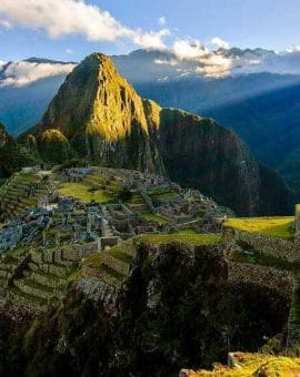 Vue panoramique sur le site de Machu Picchu au Pérou