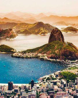 Vue panoramique sur Rio de Janeiro au Brésil