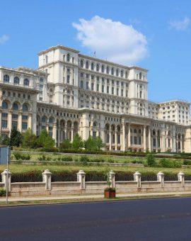 Palais du Parlement à Bucarest en Roumanie