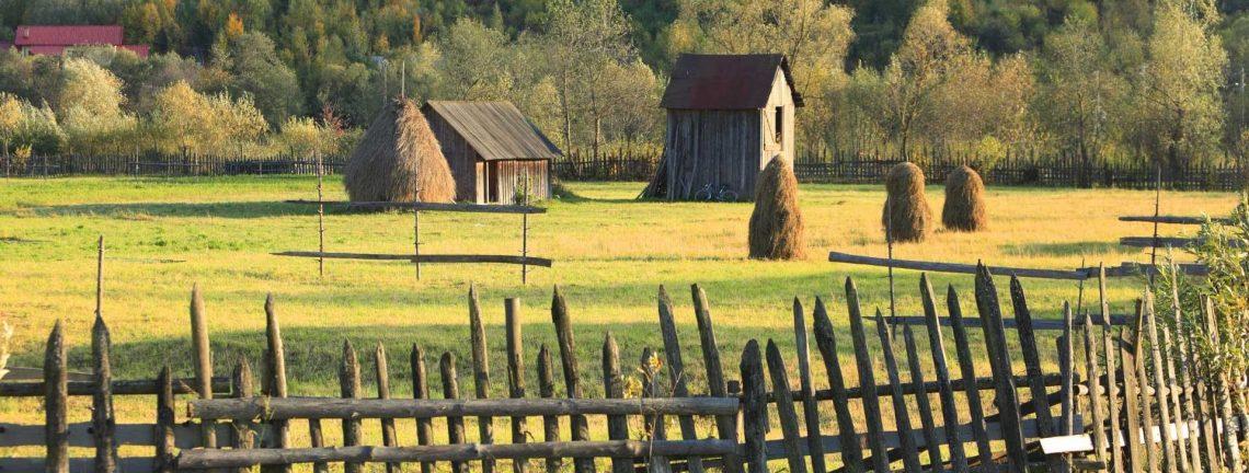 Paysage à la campagne en Roumanie