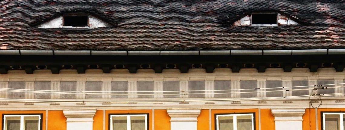 Détail architectural, les yeux de Sibiu, Transylvanie, Roumanie
